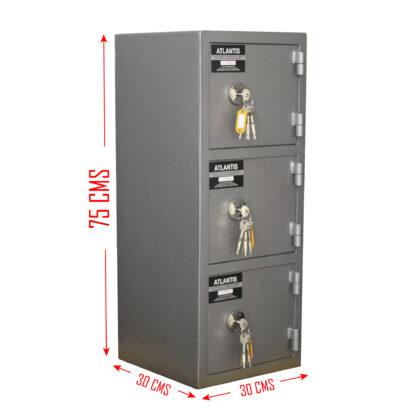 8 01 Seguridad Atlantis Sas Locker De Seguridad Vertical 3 Cajones