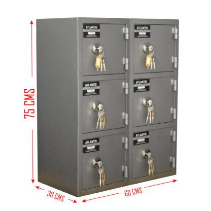 6 01 Seguridad Atlantis Sas Locker De Seguridad Vertical 6 Cajones